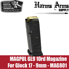 Magpul Glock Magazine 10rd for Glock 17, 19x, 9mm Double Stack G17 MAG801