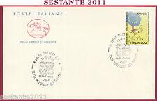 ITALIA FDC CAVALLINO FESTA GIOVANI UN PO D'AZZURRO ECO GIO' 1989 PIACENZA U273