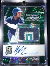 Kyle Lewis RC Rookie Auto 2019 Spectra Jersey 4 Color Patch Prizm #1/5 Mariners