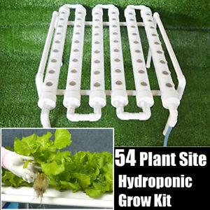 Neu Hydrokultur 54 Löcher Hydroponik Pflanzen Wachsen Rohr Bewässerung System DE