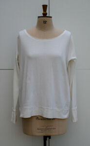 Sweaty Betty Simhasana Long Sleeve Sweatshirt, Off White, Size S, UK 10