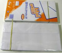 25 Buste Bianche Commerciali Formato 110 x 230 -90 gr/mq