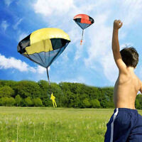 2pcs Kids Children Tangle Free Toy Hand Throwing Parachute Kite Outdoor Game DL5