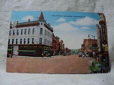 WAUKESHA WI Wisconsin 5 Points Street Scene 1948 Postcard