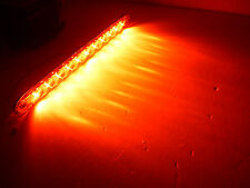 """15"""" Low Profile Red Clear LED Stop Turn Tail Light RV Trailer Truck USA"""