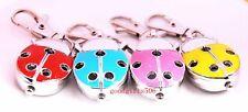 Wholesale 10 pcs Ladybug hole Key Ring watches 4 colours gifts  L74 - FREE SHIP