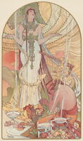 Alphonse Mucha Incantation Giclee Canvas Print Paintings Poster Reproduction Cop