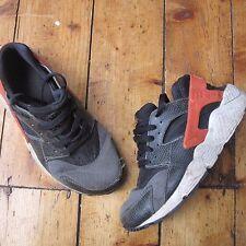Nike Huarache Run Trainers Women's Black White Red UK Size 5.5 Well Worn