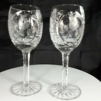 Vintage Pair of NACHTMANN TRAUBE Crystal Clear Port Glasses 6 x 2 Inch Etched