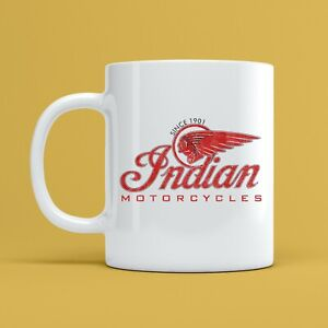 Indian Motorcycles MUG Vintage Retro Biker Bike Motorcyclist Tea Coffee Cup Gift