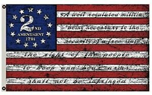 2nd Second Amendment 1791 Vintage American Flag Banner 3x5 Feet Man Cave Decor
