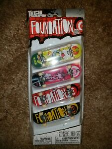 New In Package Foundation Tech Deck 4 Pack 96 mm Fingerboards
