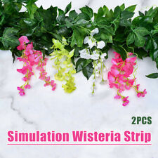 2Pcs Simulation Wisteria Strip Handmade Hanging Wisteria Vines Garland Decor