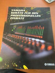 Yamaha Gesamtprospekt mit Blockschaltbildern PM1D PM4000  O1V O2R 03D SPX1000