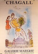 Marc Chagall Affiche offset 160 x 120 cm art abstrait Exposition Galerie Maeght