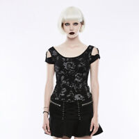 Authentic Punk Rave Gothic Rock Steampunk Festive Printed Top T-shirt