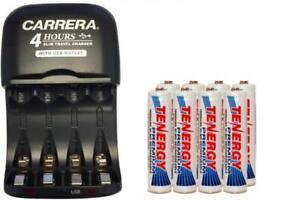 Carrera Charger & 8 x AAA Tenergy NiMH 1000 mAh Batteries