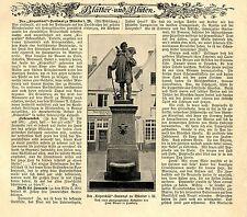 Das Kiepenkääl-Denkmal von Bildhauer A.Schmiedmann in Münster i.W. c.1900