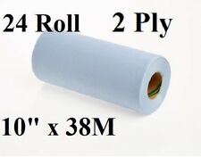 "24 x Roll Multi Purpose Cleaning Wipes 2 Ply Multiwipe Roll 10"" 38M each Roll"