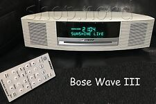 Bose Wave Music System III Radio mit Touch,DAB, RDS, CD, mp3, weiss/creme