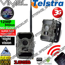 3G Security Camera GSM Wireless 1080P Night Vision Trail Farm Phone Remote View