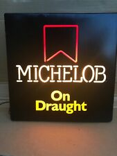 Vintage Michelob On Draught Draft Lighted Beer Sign Non Neon Light Bar Pub