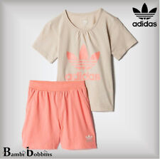🔥Adidas Originals Age 0-3 Months Baby Girl Outfit Trefoil Summer T-Shirt Shorts