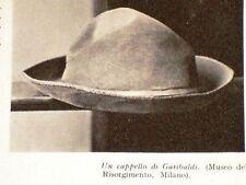 Milano Museo storico Cappello di Garibaldi + Fazzoletto regalato al Dr. Prandina