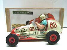 Old & Rare 1954 Original Japan Yonezawa Tin Friction Champion Race Car with BOX.