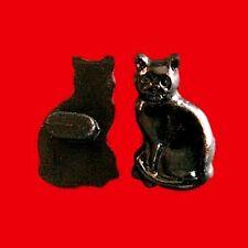 20 Cat Pet Novelty Kid Craft Chirldren Sewing Buttons Scrapbooking Black K572