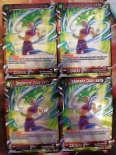 Desperate Odds Kefla 4x P-057 PR Dragon Ball Super PLAYSET