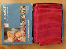 Didymos Babytragetuch Gr. 7 (5,20), Wellen Granat (Rot), Zustand: Sehr gut