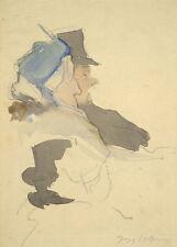 Jacques Villon Reproduction: Elderly Couple - Fine Art Print