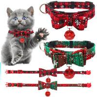 Bow Tie Adjustable Kitten Necktie Collar Bowknot Dot Bell Cat Dog Pet Puppy
