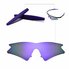 d2a632e6c9 Walleva Polarized Purple Replacement Lenses + Earsocks For Oakley M Frame  Sweep