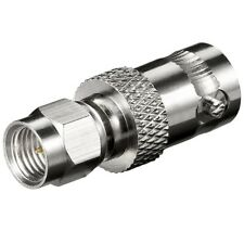 Adapter 1x SMA Stecker auf BNC Kupplung Buchse weiblich für R174/U Kabel