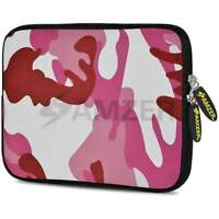 "AMZER 7.75"" Neoprene Sleeve Case Cover Pouch For Tablet Netbook - Pink Army"
