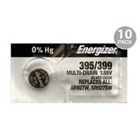 Energizer 395 / 399 Watch Batteries SR927SW SR927W (10 Pack)