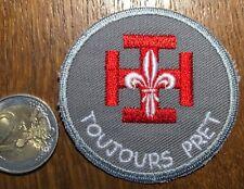 ECUSSON PATCH  SCOUT DE FRANCE. TOUJOURS PRÊT  (ÉCU 2) SCOUTISME