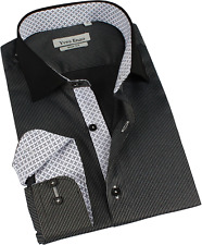 Chemise Homme manches longues Yves Enzo a Rayures Noires-anthracites S (fr 37-38) - T1