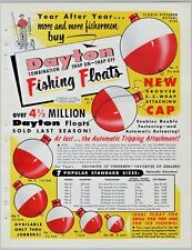 1950's Dayton Fishing Floats Old Fishing tackle Print Ad Flyer