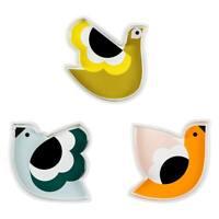 Orla Kiely Set of 3 Snack Dishes, Birds