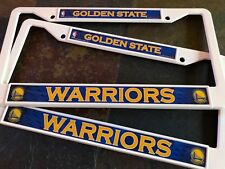 2 Golden State Warriors - White Plastic License Plate Frames - 2D Color Graphics