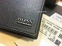 MEN'S BRAND NEW DESIGNER HUGO BOSS 'MONAD' TRIFOLD WALLET GIFT BOXED.
