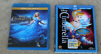 "DISNEY ""CINDERELLA"" DIAMOND EDITION  BLU-RAY + DVD &"" CINDRELLA"" BLU-RAY + DVD"
