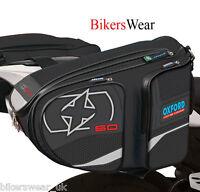 OXFORD X60 Panniers Black Lifetime Motorcycle Luggage Sports Bag 60L Storage