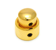 MK-0138-002 (1) Guitar Mini Dome Concentric Stacked Knobs fits Duncan® - Gold
