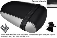 BLACK & WHITE CUSTOM FITS SUZUKI 600 750 GSXR 08-10 K8 K9 L0 REAR SEAT COVER