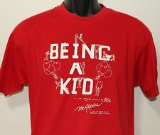 Being a Kid Mother Bunny Musical Cast vintage red t-shirt Large/Medium
