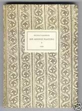 R. Kassner: agonie de platon (vob) 1950 #225 (v.555 ex.)